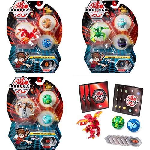 Bakugan Starter Pack mit 3 Bakugan (1...