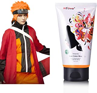 Fun Temporary Hair Color Wax Hair Dye Wax Hair Styling&Coloring Hair Wax for Halloween- Wash Off Easily - Fast Coloring on - Zero Damage to Hair (ORANGE)