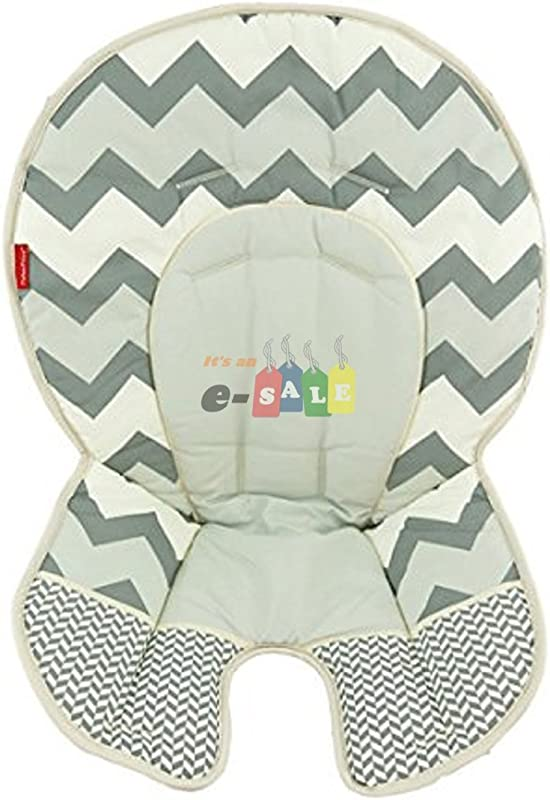 Fisher Price Space Saver High Chair Replacement DLG99 GRAY ZIG ZAG PAD