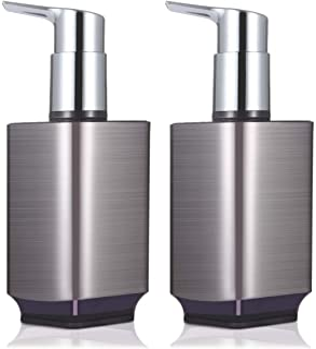 Boperzi 2 Pack Soap Dispenser Rust Proof Refillable Liquid Hand & Dish Soap Dispenser Set Leak Proof Plastic Pump for Kitc...