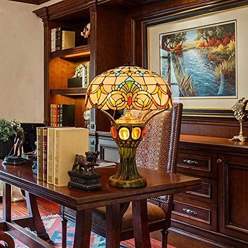 BoMiVa Lámpara de Mesa Lujo Europeo Lámpara de Mesa Grande Retro Elegante Sala de Estar Dormitorio Bar Estudio Vestíbulo Frontal Lámpara de Mesa de Cristal