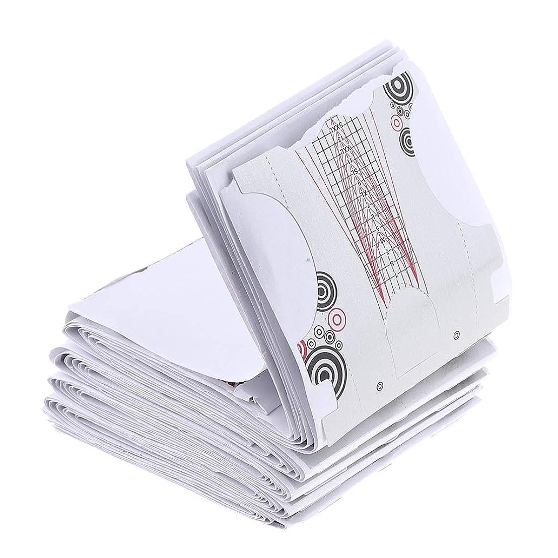 連邦買い手ミケランジェロF Fityle 全100枚 ネイルアートフォーム ネイルフォーム ジェルネイルフォーム
