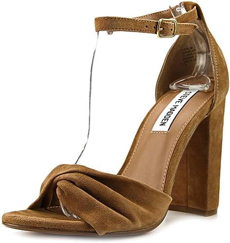 Steve Madden femmes Clever Heeled Sandal chaussures, Camel Camel Suede, US 8  grande vente