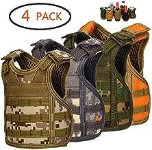 DSMY Bottle Vest Tactical Beverage Cooler Military Beer Mini Molle Vest Hunting Bottle Drink Adjustable Shoulder Straps (4 Camouflage)