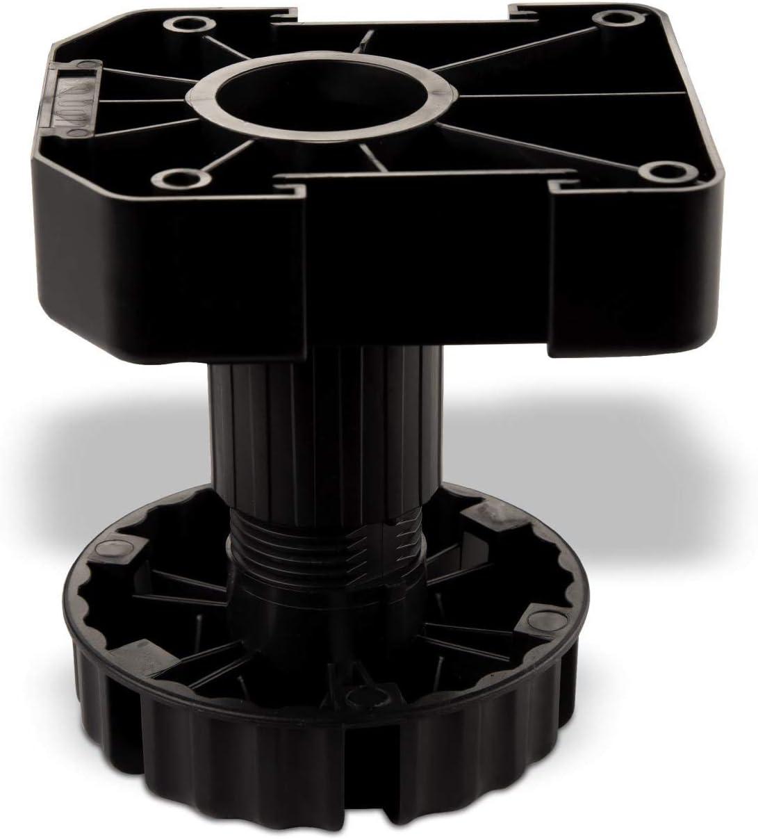 SO-TECH® Juego de 4 Zócalo Mueble Cocina Patas Plásticas Pies para Mueble Patas Regulables Alto 100 mm