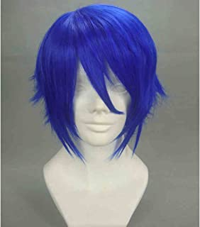 BERON Fashion Short Curly Layered Blue Cosplay Costume Wigs