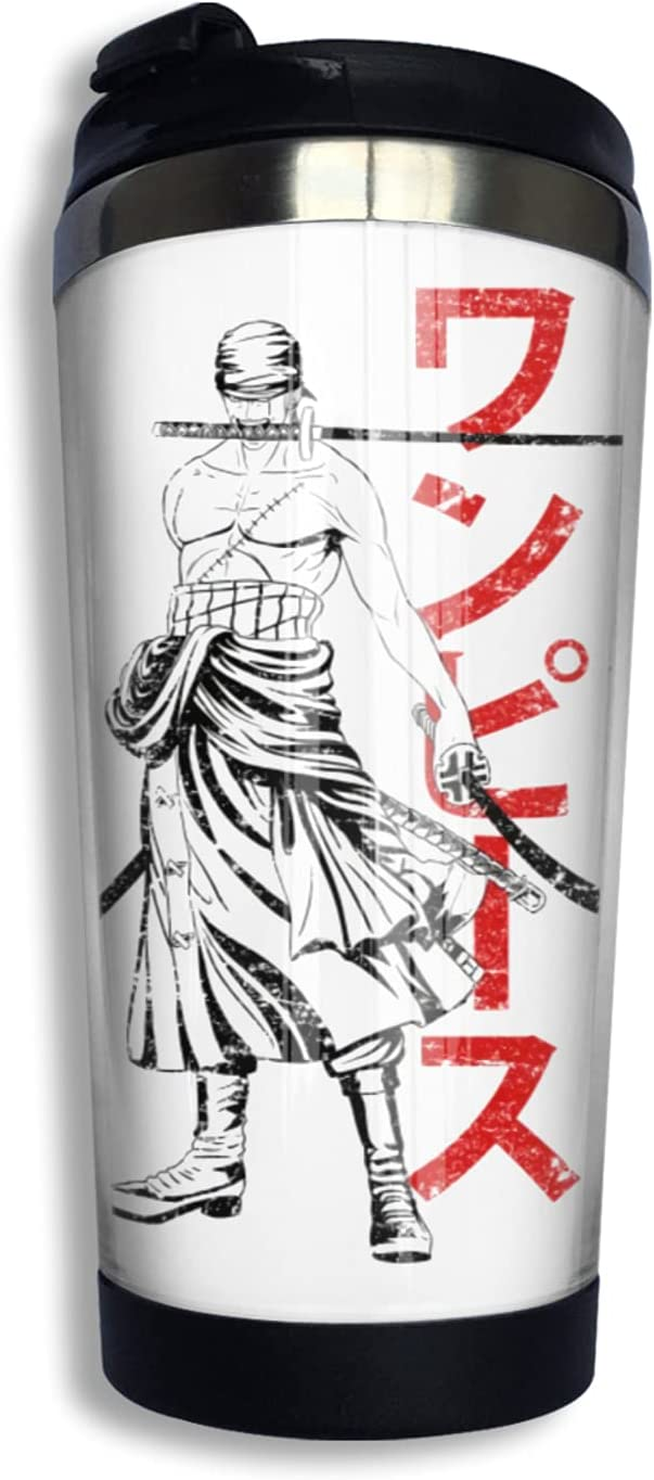 One Piece Ranking integrated 1st Brand new place Samurai Roronoa Zoro Anime Print Coffee 3d Thermos Cup