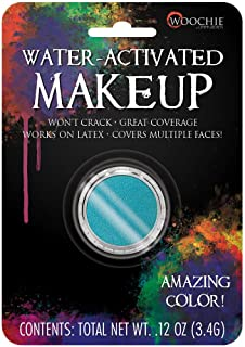 Woochie Water Activated Makeup - Professional Quality Halloween and Costume Makeup - (Teal, 0.1 oz)
