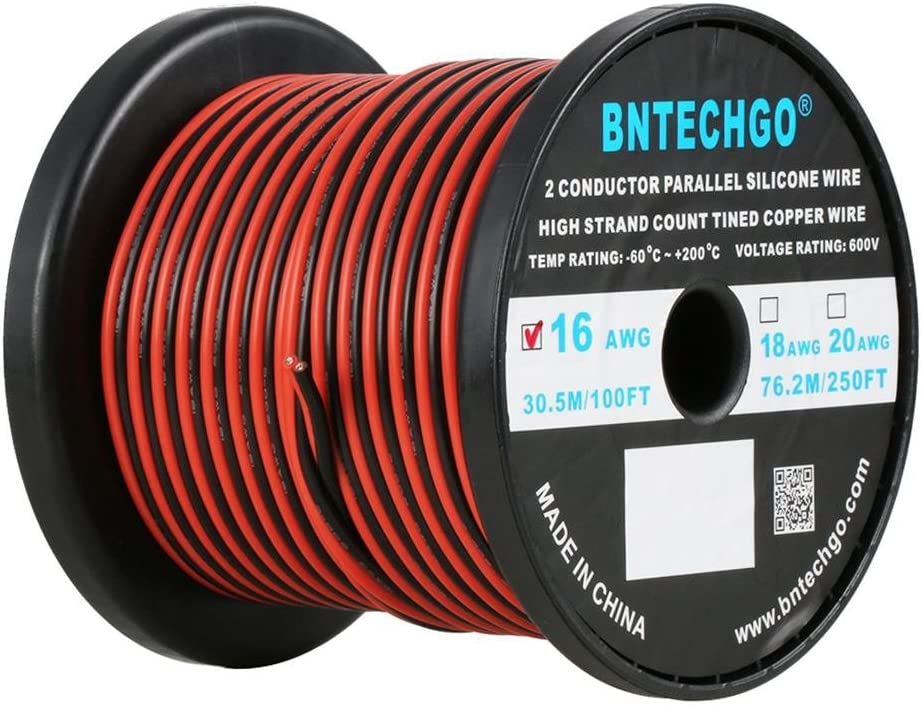 BNTECHGO 16 Gauge Flexible 2 Silicone Conductor Parallel Sp Ranking TOP12 Wire Quality inspection
