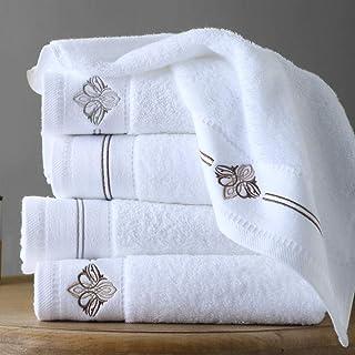 SQYJ Badetuch Hotel Badetuch Baumwolle Erwachsene weiche Baumwolle Haushalt große Handtuch Männer und Frauen weiß gewickelt Brust Dicke wasserabsorbierende Silberstickerei, Goldstickerei