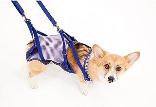 With(ウィズ) 歩行補助ハーネス LaLaWalk 中型犬・コーギー用 ギンガム CLサイズ