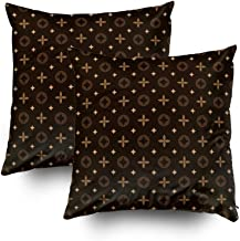 Capsceoll Christmas 2PCS Geometric Floral Pattern in Decorative Throw Pillow Case 20X20Inch,Home Decoration Pillowcase Zippered Pillow Covers Cushion Cover with Words for Book Lover Worm Sofa Couch