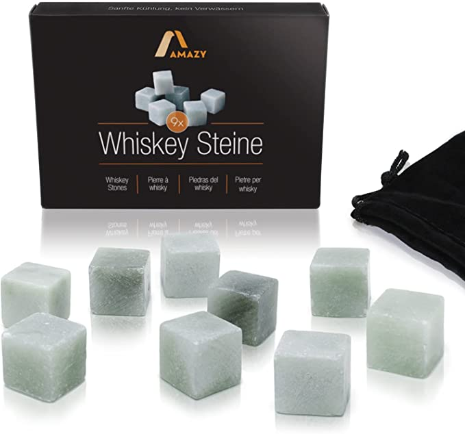 960 opinioni per Amazy Set Whisky Stones in pietra ollare naturale (9 PEZZI) incl. Sacchetto di