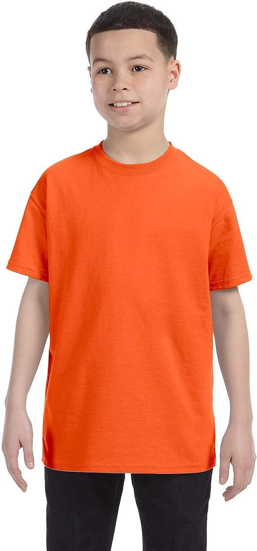 By Gildan Youth 53 Oz T-Shirt - Orange - L - (Style # G500B - Original Label)