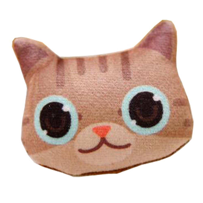 議題ストライド検出する猫のパターンのバッジ、高品質のバッグの装飾品、美しいブローチ