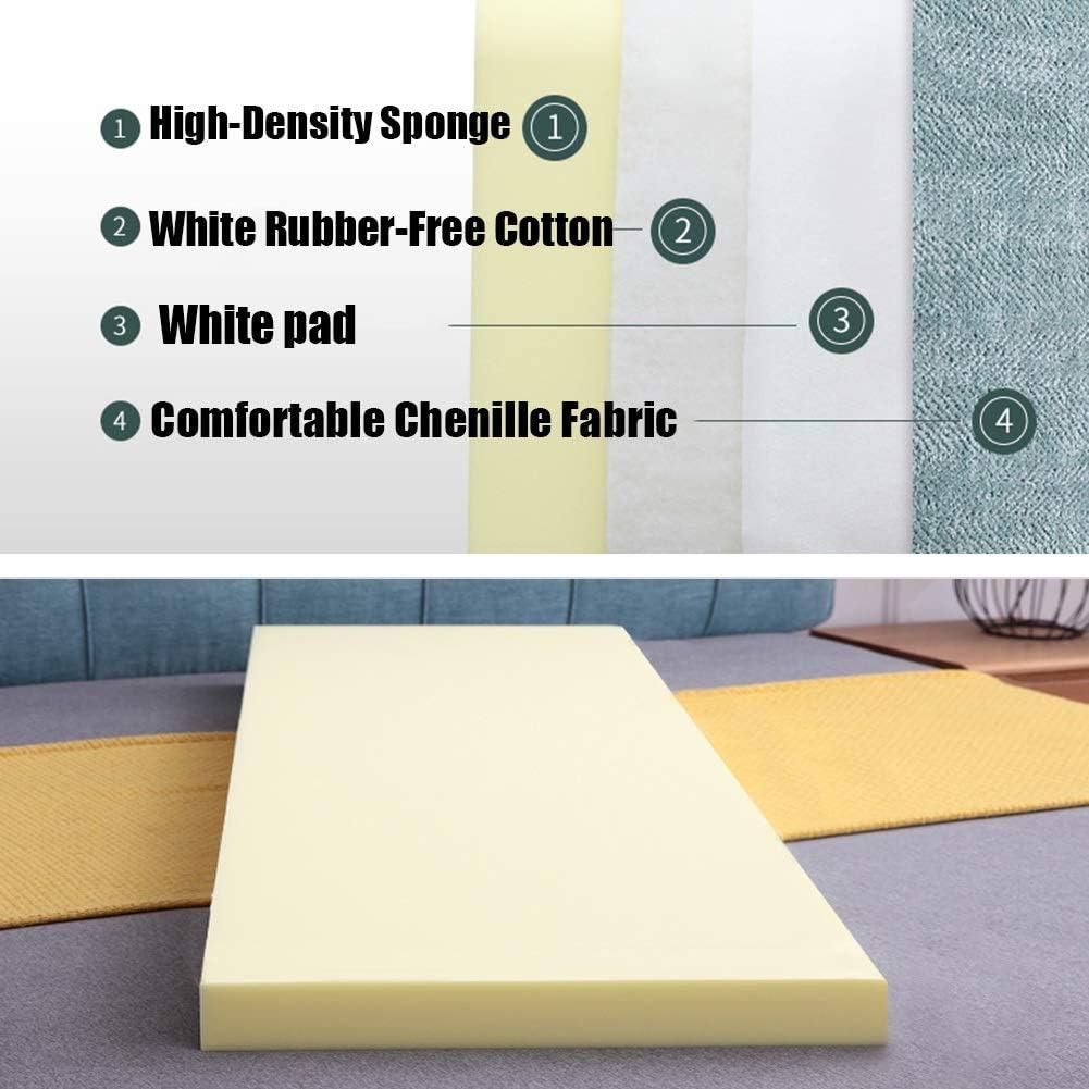 Lavabile 5 Colori LIANGJUN Cuscini Testiera Letto Pad Lombare Capezzale Cuscino Senza Testiera Cuscino da Parete Schienale Pad Lombare Letto Matrimoniale Dimensione Piena