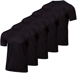 5 Pack: Men's Mesh Active Wear T-Shirt Essentials Performance Workout Gym Training Quick Dry Fit Dri Tech Breathable Short...