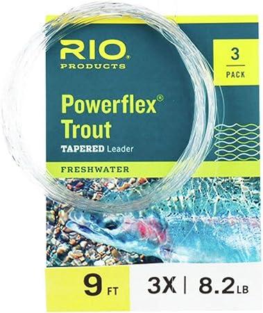 Rio Powerflex Trout Leaders 3 PK 9ft 6x for sale online
