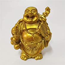 Ornaments Statuettes Decoration Golden Feng Shui Maitreya Laughing Buddha Statue Sculpture Home Decoration