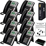 XBLUE X25 Phone System (C2508) with (8) X3030 IP Phones - Auto Attendant, Voicemail, Caller ID, Paging & Remote Phones