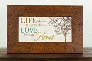 Life Takes You To Unexpected Places Love Brings You Home Framed Art Decor 10x16