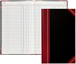 64516 9-9//16 x 6-1//8 Single Entry Ledger Book 160 Pages with Hardbound Cover - 1 Book