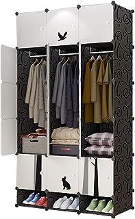 Garde-robe Armoire Espace Simple Moderne Espace économique Plastique Porte coulissante Chambre Assemblée Casier Dortoir Ar...