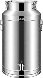 conteneurs stockage en acier inoxydable Seau à lait en acier inoxydable, pas de lait de lait de lait argenté de fuite -HAU...