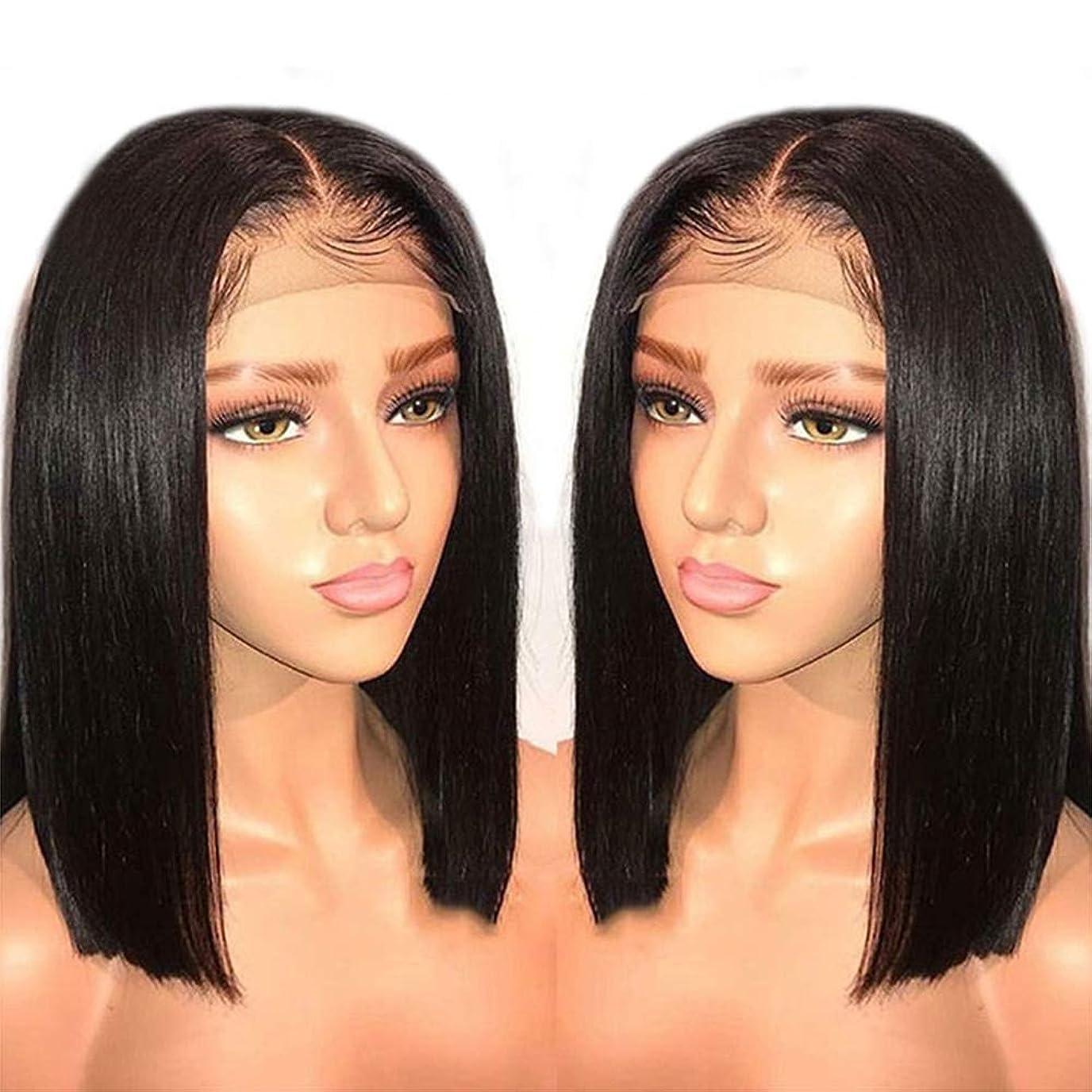 懸念レンダー豊富150%密度360レース前頭閉鎖かつらグルーレスレミーの毛髪の周りのかつら短い髪のかつら