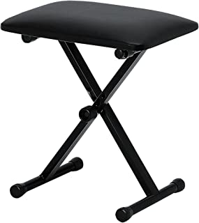 KC キーボードスローン (ピアノ椅子) ブラック KB-4400/BK