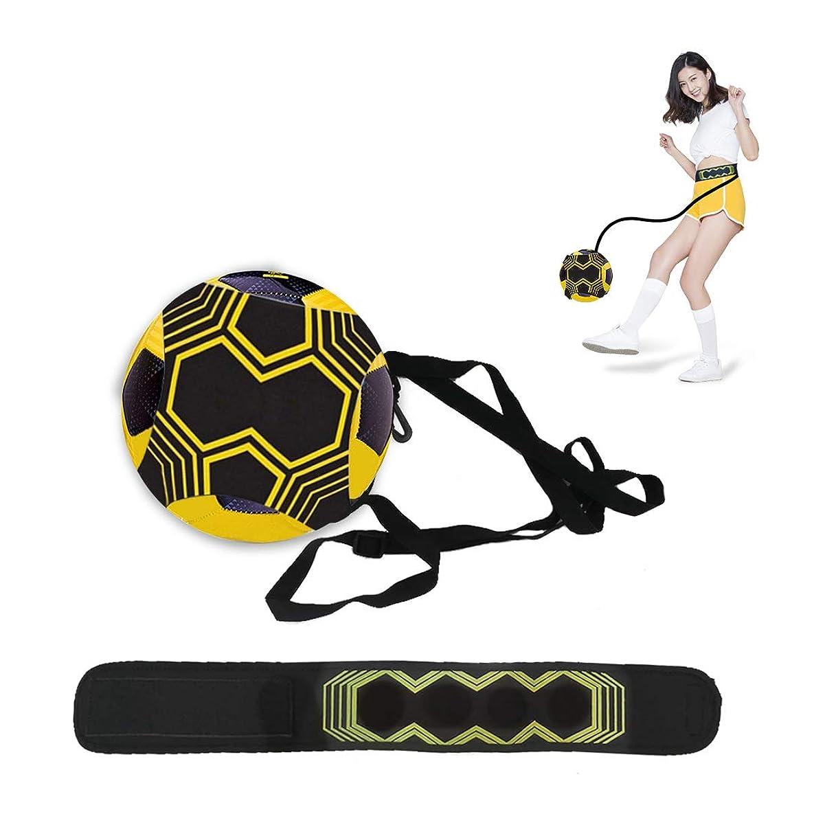 心のこもった芽皮N NEWKOIN サッカー トレーナー 練習キット 練習用ベルト トレーニングベルト ボール自主練用 シュート練習 レジャー ファミリースポーツ