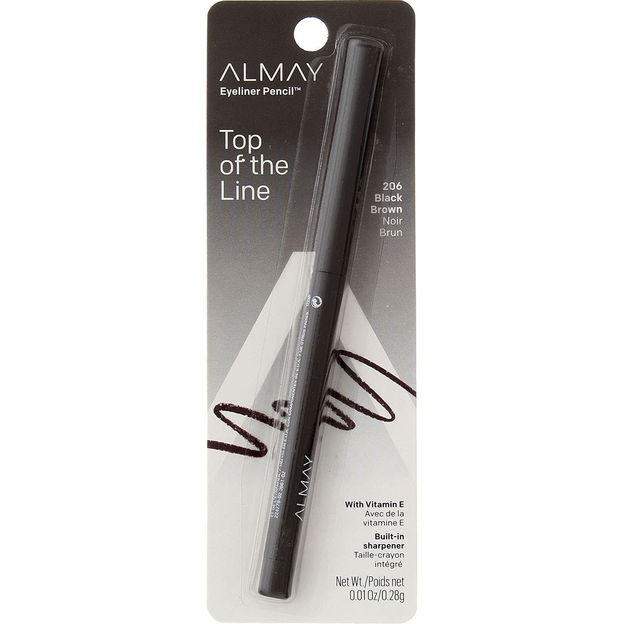 Almay Eyeliner Pencil NEW Black Brown 206 Excellence Pack of oz 4 0.01