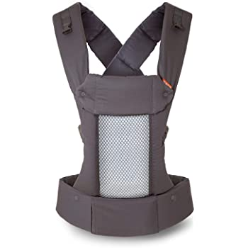 Beco 8 Baby Carrier – Supportive and Adaptable Carrier for Babies from 7 – 45 lbs with Convertible Cool Mesh Panel (Cool Dark Grey)