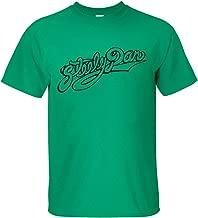 XADIO Men's Steely Dan logo Short Sleeve T-shirt green M
