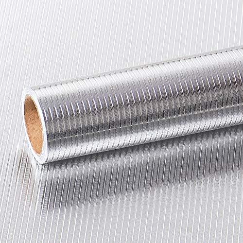VEELIKE Papel Pared Autoadhesivo Aluminio Efecto Papel Pintado Cocina Papel de Pared...