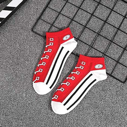 Zyf Fac Canvas Schoenen Ontwerp Katoen Korte Sokken Cool Unieke Harajuku Lage Zomer Sokken Vrouwen Leuke Dunne Cool Enkel Sokken Mannen