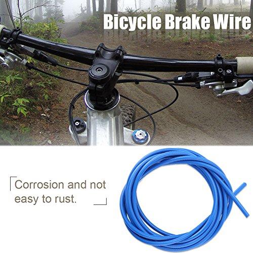 Alomejor Bicicleta Cable de Freno Cable de Acero de 4 mm Cambio de Cable de Bicicleta Cables de Cambio Kit de reemplazo de MTB de Carretera