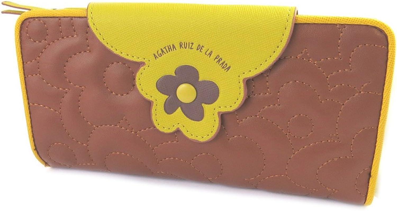 Agatha Ruiz de la Prada [N8666]  Wallet 'Agatha Ruiz De La Prada' brown  camelia (l) 19x10x3.5 cm (7.48''x3.94''x1.38'').