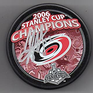 Eric Staal Autographed Puck Carolina Hurricanes 2006 Stanley Cup Champions