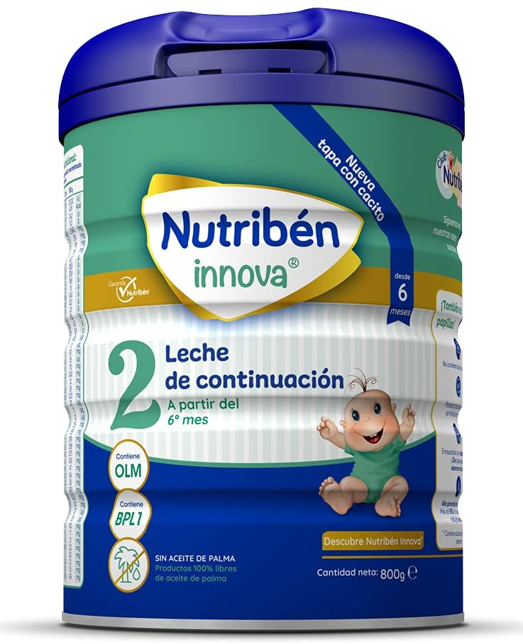 Nutribén Innova 2 Leche en polvo de Continuación para bebés- de 6 a 12 meses- 1 unidad 800g