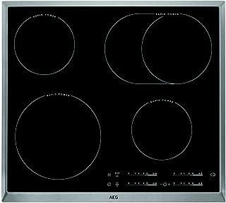 AEG HK654850XB - plaques (Intégré, Céramique, Noir, Acier inoxydable, toucher, En haut devant, Découpe complète)