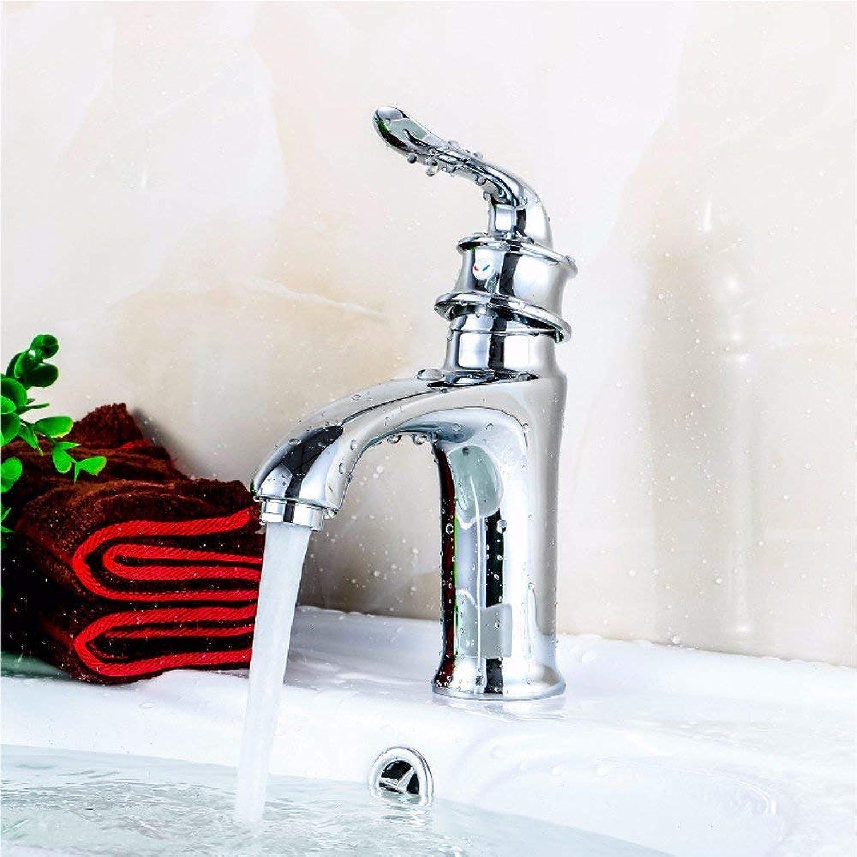 Oudan Basin Mixer Tap Bathroom Sink Faucet Basin taps, full copper single handle single hole hot and cold basin Mixer Taps