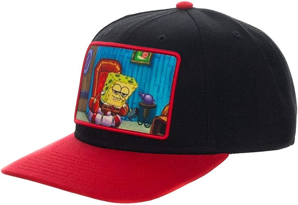 Bioworld Spongebob Snapback Hat with Embroidered Patch