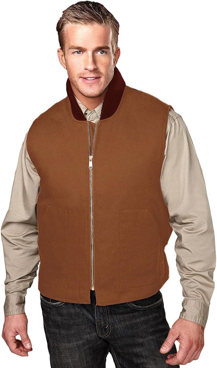Tri-Mountain Heavyweight 12 oz. Canvas Vest. 4459