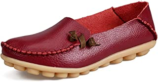 Women's Easy Style Moccasins Round Toe Slip On Comfort Driving Walking Flats Penny Loafers