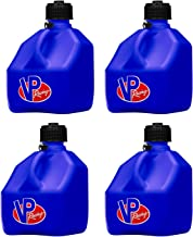 VP Racing Fuels 3 Gallon Square Heavy Duty Racing Utility Jug, Blue (4 Pack)