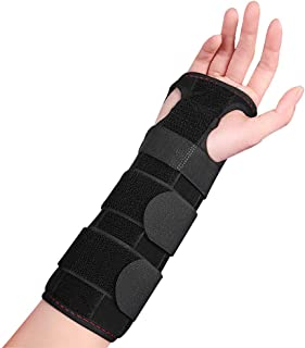Wrist Brace for Carpal Tunnel, Adjustable Wrist Support Brace with Splints Left&Right Hand, Arm Compression Hand Support f...