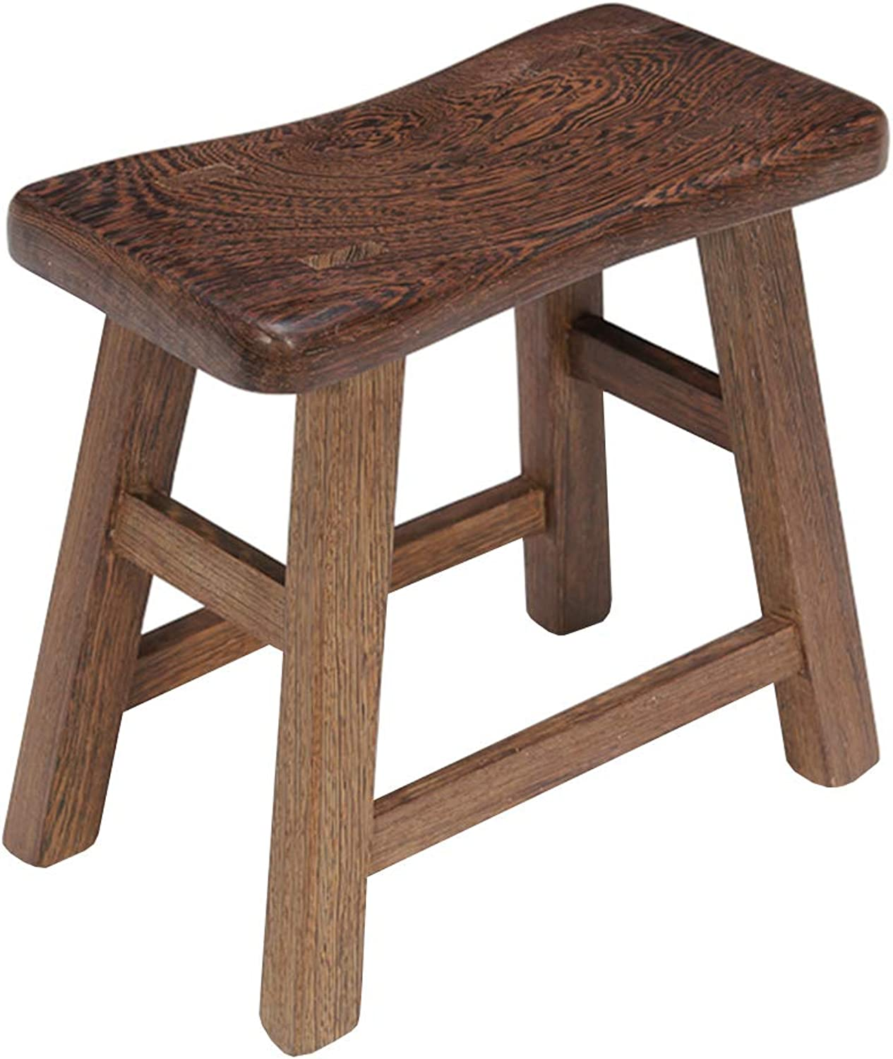 Stool Traditional Home Small Bench Multi-Purpose shoes Bench Home Rectangular Solid Wood Footstool Various Sizes WEIYV (color   Wood-color, Size   29  15  21cm)