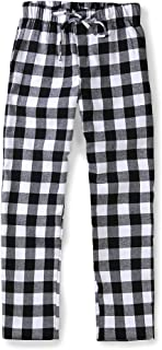Men's Cotton Woven Pajama Lounge Pant, Plaid Soft Sleepwear