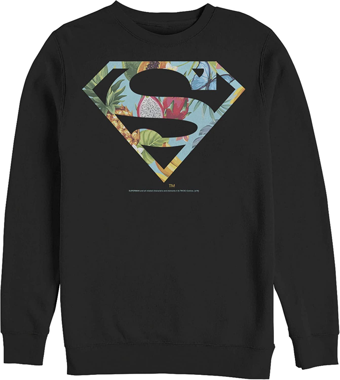 Fifth Sun Detroit Mall Men's Superman Sweatshirt Shield Logo Columbus Mall Tropical
